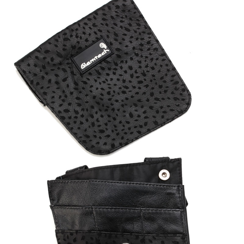 FST29-3 -Glamtech-Black-Leather-Leopard-Pouch-Closed (1)
