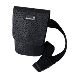 FST29 -Glamtech-Black-Leather-Leopard-Pouch-Closed (1)